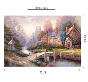 1912 House Painting is Wooden 1000 Piece Jigsaw Puzzle Toy For Adults and Kids