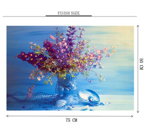 Purple Flower Vase is Wooden 1000 Piece Jigsaw Puzzle Toy For Adults and Kids