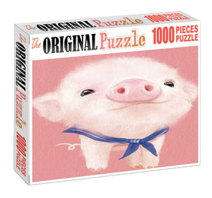 Piglet Potrait Wooden 1000 Piece Jigsaw Puzzle Toy For Adults and Kids