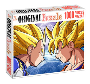 Vagito and Goku is Wooden 1000 Piece Jigsaw Puzzle Toy For Adults and Kids