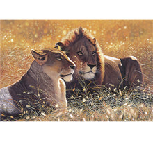 Lion and Lioness Wooden 1000 Piece Jigsaw Puzzle Toy For Adults and Kids