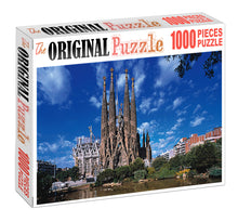 Ancient Cathedral Church Wooden 1000 Piece Jigsaw Puzzle Toy For Adults and Kids