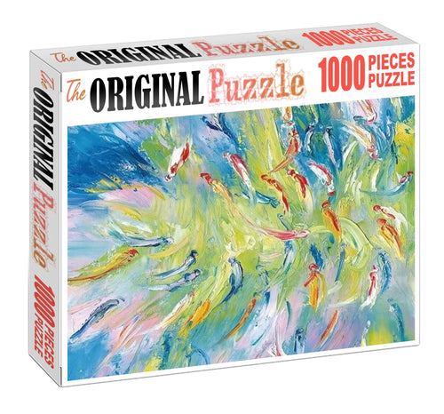 Abstract Fish Painting 1000 Piece Jigsaw Puzzle Toy For Adults and Kids