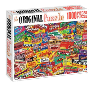 Candy Packaging Collection 1000 Pieces Wooden Puzzle for Adults and Kids