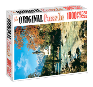 Old River Church is Wooden 1000 Piece Jigsaw Puzzle Toy For Adults and Kids