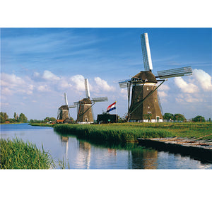 Three Windmills is Wooden 1000 Piece Jigsaw Puzzle Toy For Adults and Kids