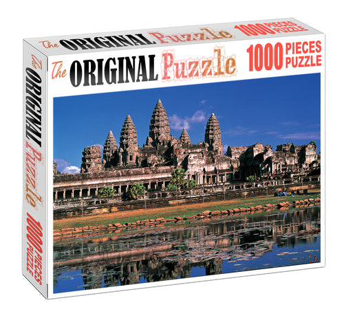 Ancient Temple Wooden 1000 Piece Jigsaw Puzzle Toy For Adults and Kids