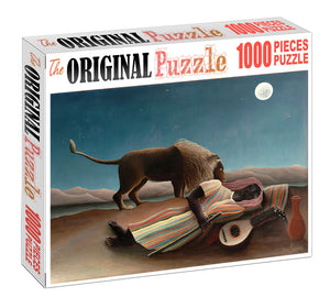 Lion Pet and African Wooden 1000 Piece Jigsaw Puzzle Toy For Adults and Kids