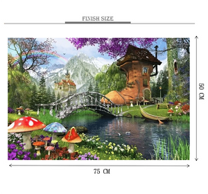 Shoe House Wooden 1000 Piece Jigsaw Puzzle Toy For Adults and Kids