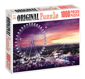 Britain MerryGo Round Wooden 1000 Piece Jigsaw Puzzle Toy For Adults and Kids