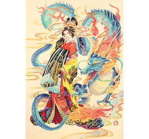 Dragon Maiden is Wooden 1000 Piece Jigsaw Puzzle Toy For Adults and Kids