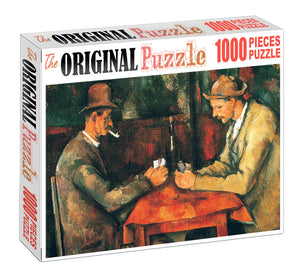 Men Gambling is Wooden 1000 Piece Jigsaw Puzzle Toy For Adults and Kids