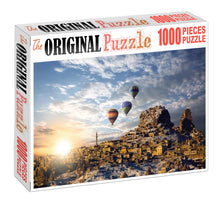 Travelling through Hot Balloon Wooden 1000 Piece Jigsaw Puzzle Toy For Adults and Kids