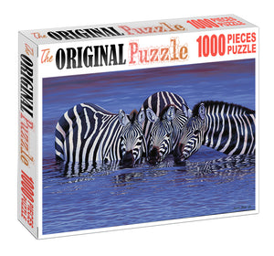 Zebra under Water is Wooden 1000 Piece Jigsaw Puzzle Toy For Adults and Kids