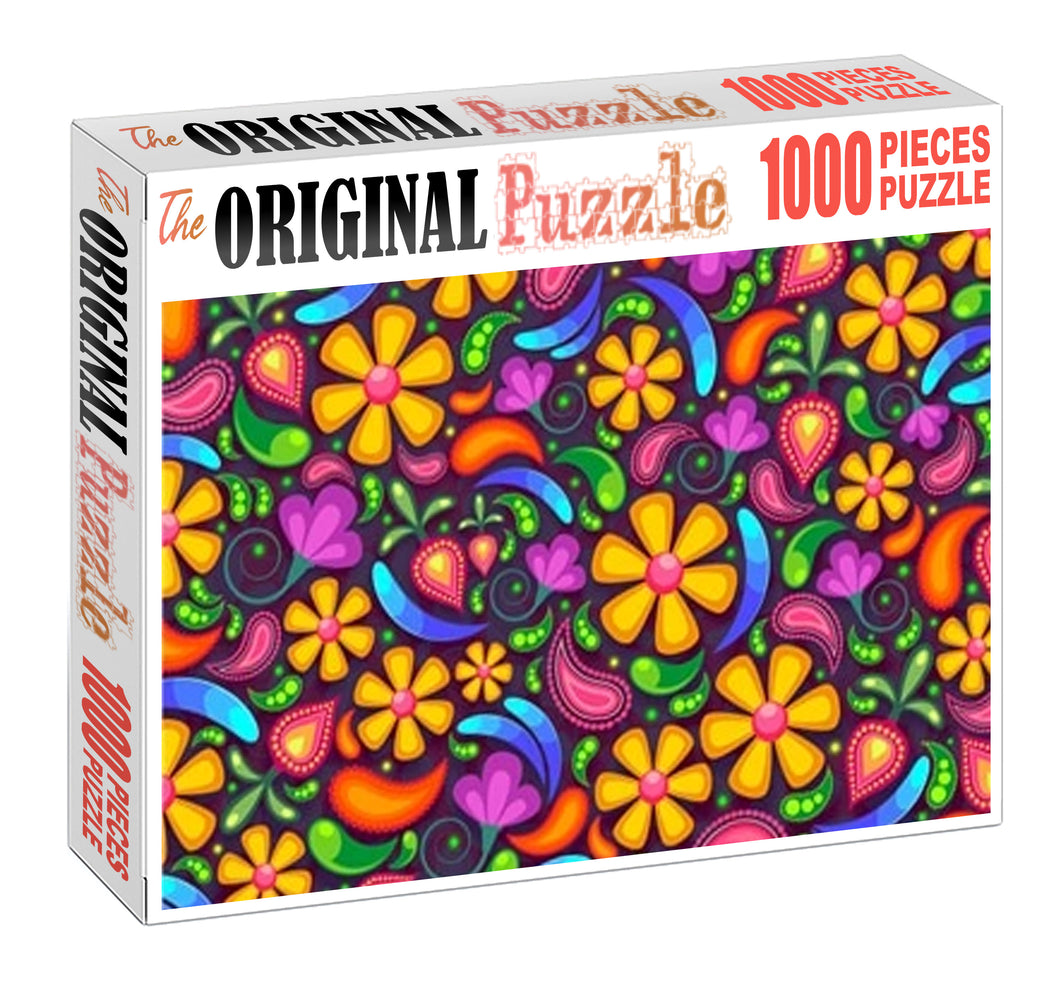 Beautiful Flower Canvas Wooden 1000 Piece Jigsaw Puzzle Toy For Adults and Kids