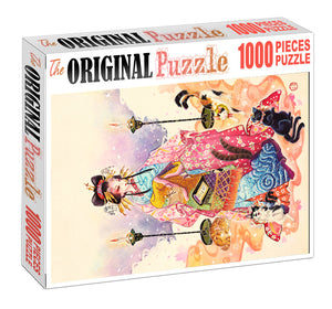 Golden Silk Maiden Wooden 1000 Piece Jigsaw Puzzle Toy For Adults and Kids