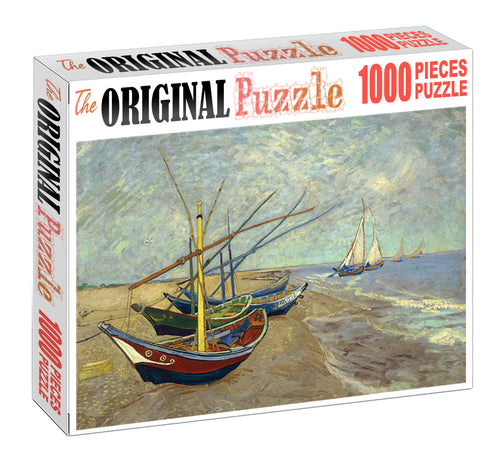 Boat for Sale is Wooden 1000 Piece Jigsaw Puzzle Toy For Adults and Kids