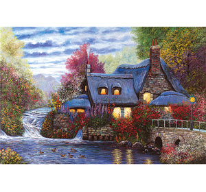 Village Apartment is Wooden 1000 Piece Jigsaw Puzzle Toy For Adults and Kids