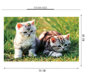 Kittens Wooden 1000 Piece Jigsaw Puzzle Toy For Adults and Kids