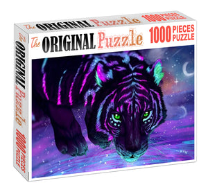 Floracent Tiger Wooden 1000 Piece Jigsaw Puzzle Toy For Adults and Kids