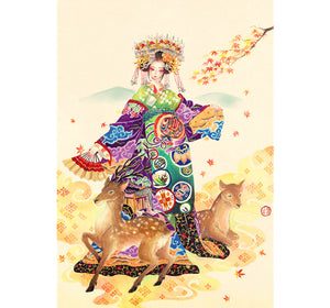Chinese Mother of Deers is Wooden 1000 Piece Jigsaw Puzzle Toy For Adults and Kids