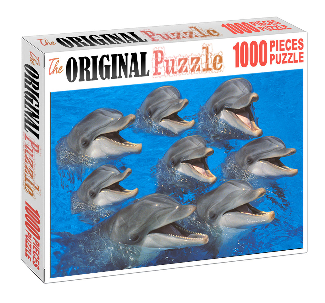 Group of Dolphin Wooden 1000 Piece Jigsaw Puzzle Toy For Adults and Kids