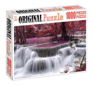 Red Milky River Wooden 1000 Piece Jigsaw Puzzle Toy For Adults and Kids