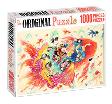 Maiden of Fortune Fish is Wooden 1000 Piece Jigsaw Puzzle Toy For Adults and Kids
