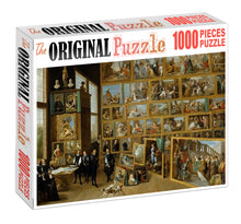 Large Painting Exhibition Wooden 1000 Piece Jigsaw Puzzle Toy For Adults and Kids