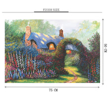 Garden of Country House Wooden 1000 Piece Jigsaw Puzzle Toy For Adults and Kids