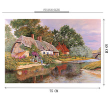 Feeding Ducks is Wooden 1000 Piece Jigsaw Puzzle Toy For Adults and Kids