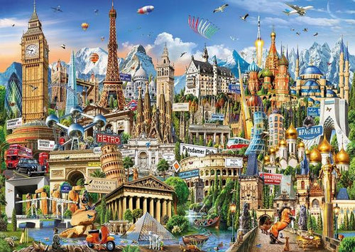 World Architectural Monument Wooden 1000 Piece Jigsaw Puzzle Toy For Adults and Kids