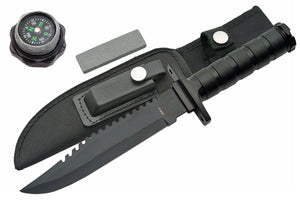 BLACK HANDLE SURVIVAL KNIFE