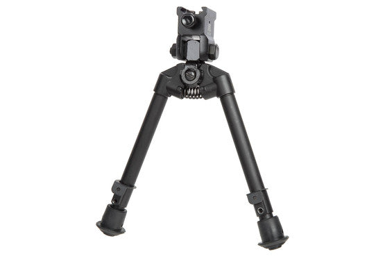 NcSTAR Bipod w/Weaver Quick Release Mount, Universal Barrel Adapter Included, Notched Legs