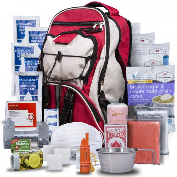 SURVIVAL BACKPACK FIRST AID KIT WITH FOOD & WATER