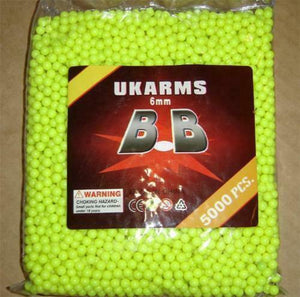 UK ARMS  .12G  6MM BBS, 5000 ROUNDS POLYBAG