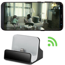 Load image into Gallery viewer, DOCK CHARGER WI-FI CAMERA W/8GB CARD - ANDROID