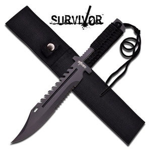 "SURVIVOR FIXED BLADE KNIFE 13.5"" OVERALL"