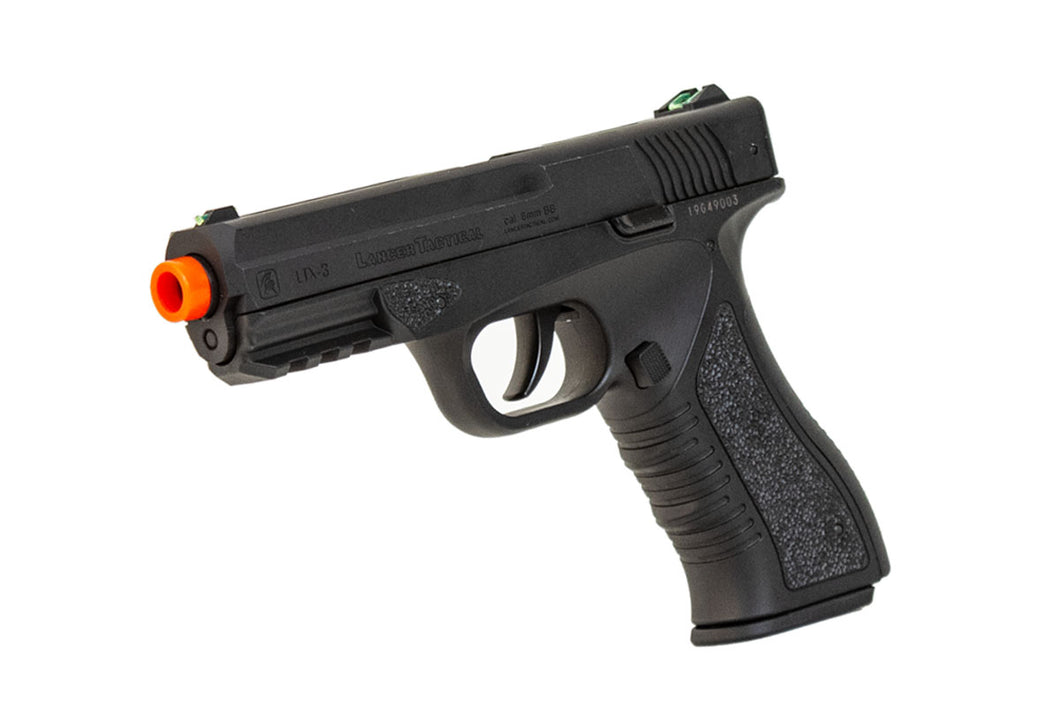 Lancer Tactical Defender LTX-3 CO2 Half-Blowback Airsoft Pistol - BLACK