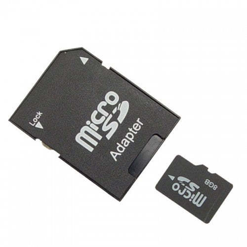8GB MICRO SD MEMORY CARD WITH ADAPTER