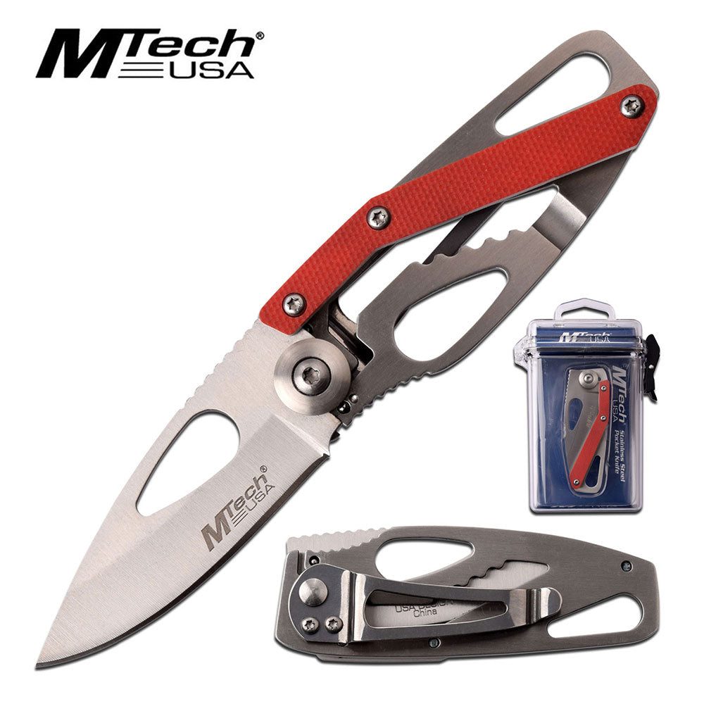 FOLDING KNIFE WITH WATERPROOF CASE