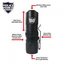 Load image into Gallery viewer, POLICE FORCE MINI TACTICAL L2 LED FLASHLIGHT