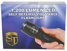 Load image into Gallery viewer, 1200 LUMENS LED SELF DEFENSE ZOOMABLE FLASHLIGHT