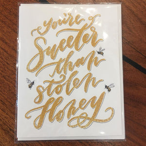 Halfmoon Lettering Blank Cards