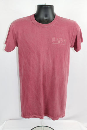 Shiner Map Crew Neck Bluestem Tee shirt