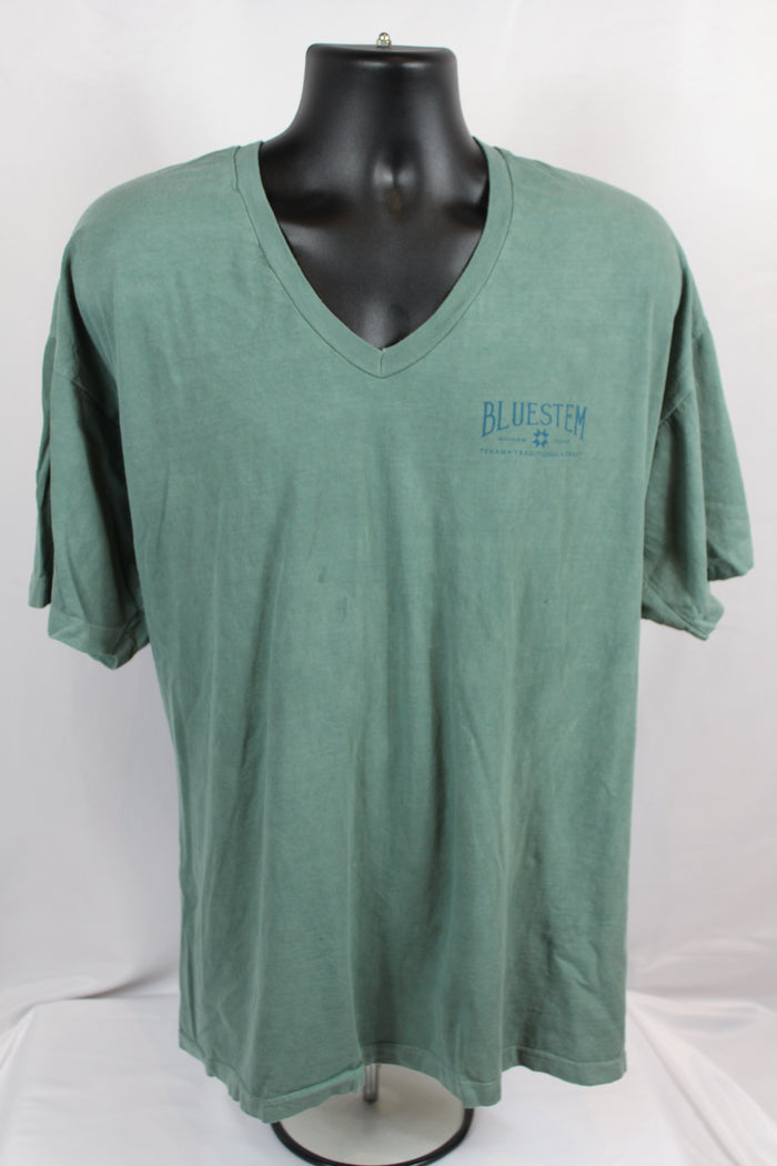 Shiner Map Bluestem V-Neck Tee Shirt