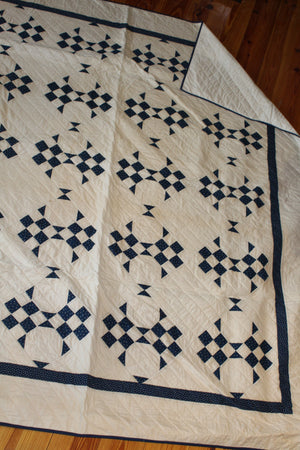 100 Year Vintage Top- 9 Patch Snowball Quilt
