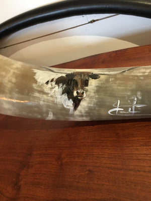 Paintings on Cow Horns - By Jennifer Casebeer
