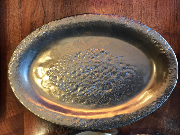 Oval, bronze tray