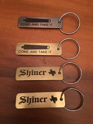 Brass and stainless steel  key chains